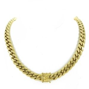Harlembling 14k Gold  Miami  Cuban 12mm Link Chain